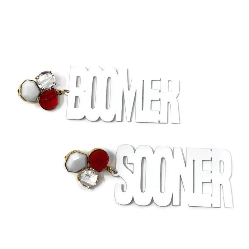 Boomer Sooner Earrings - StyleAlum
