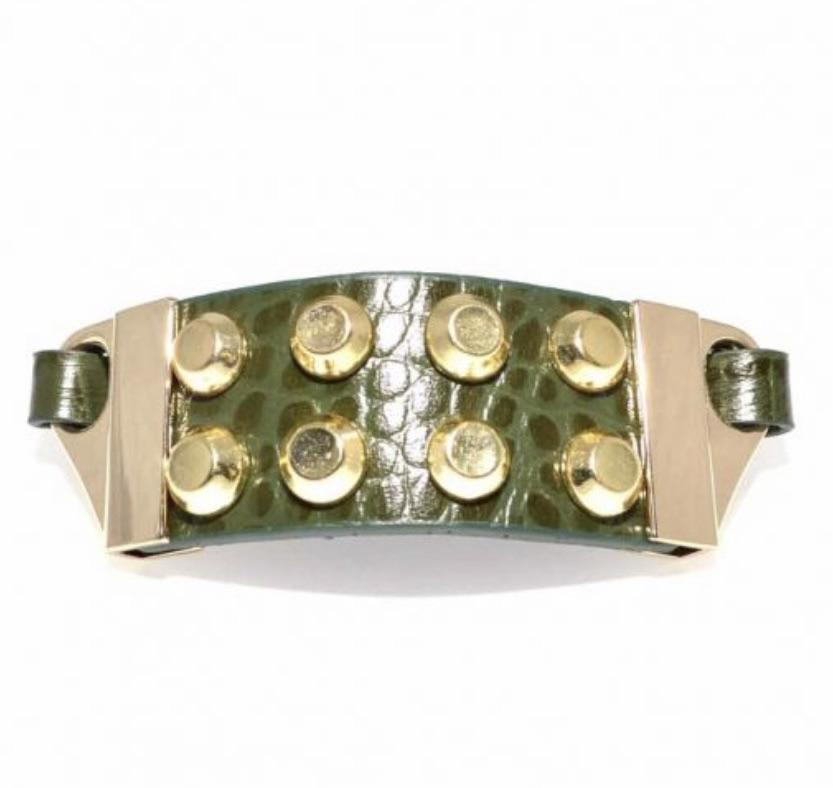Green and Gold Stud Bracelet - StyleAlum
