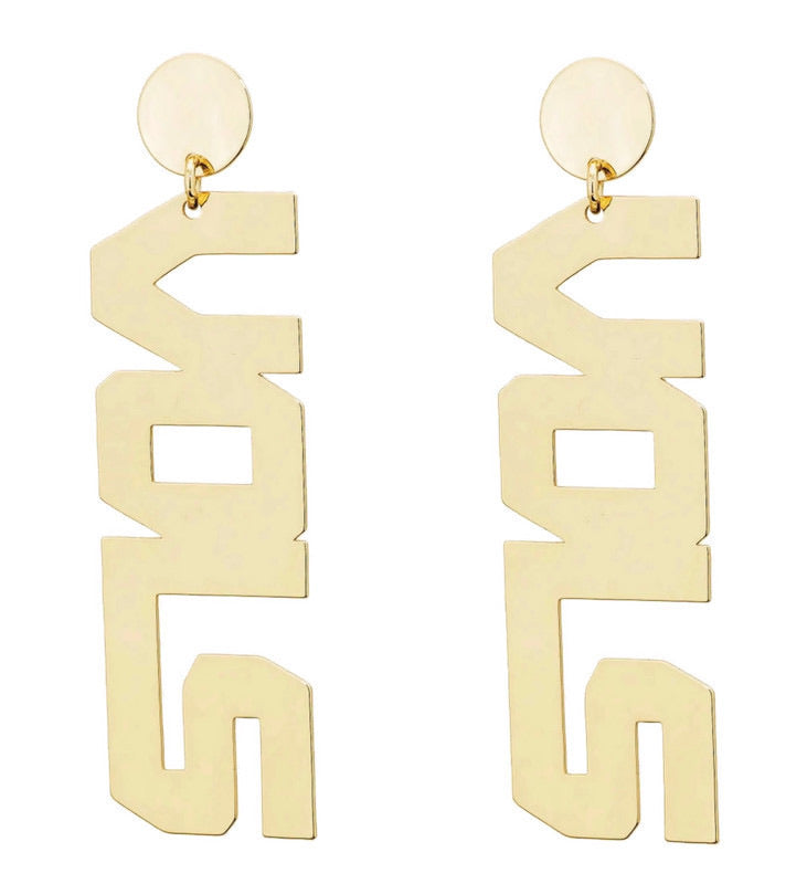 Tennessee Vols Gold Earrings