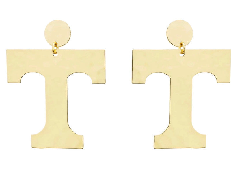 Tennessee Vols Power Gold Earrings