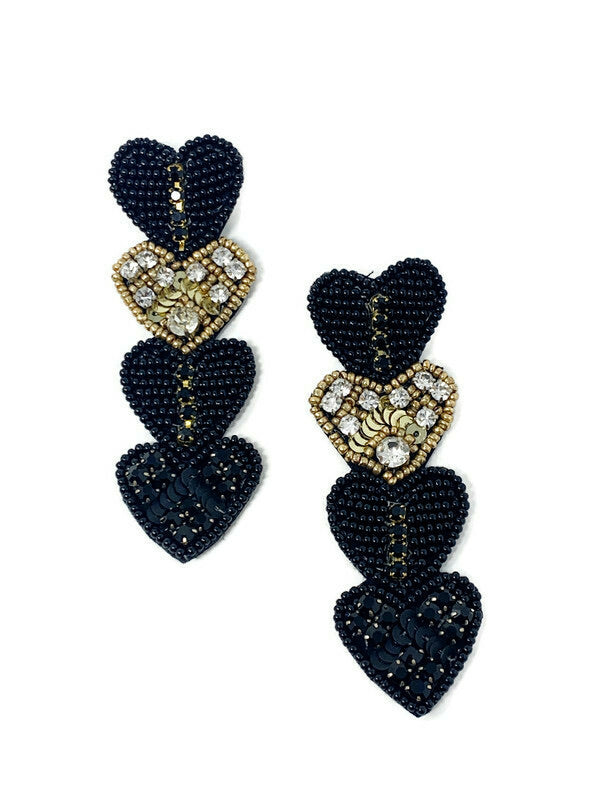 Four Hearts Earrings