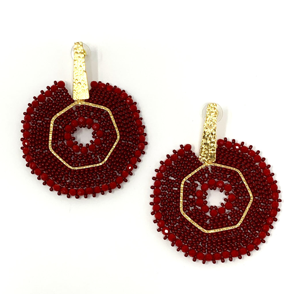 Intricate Bead Earrings - StyleAlum