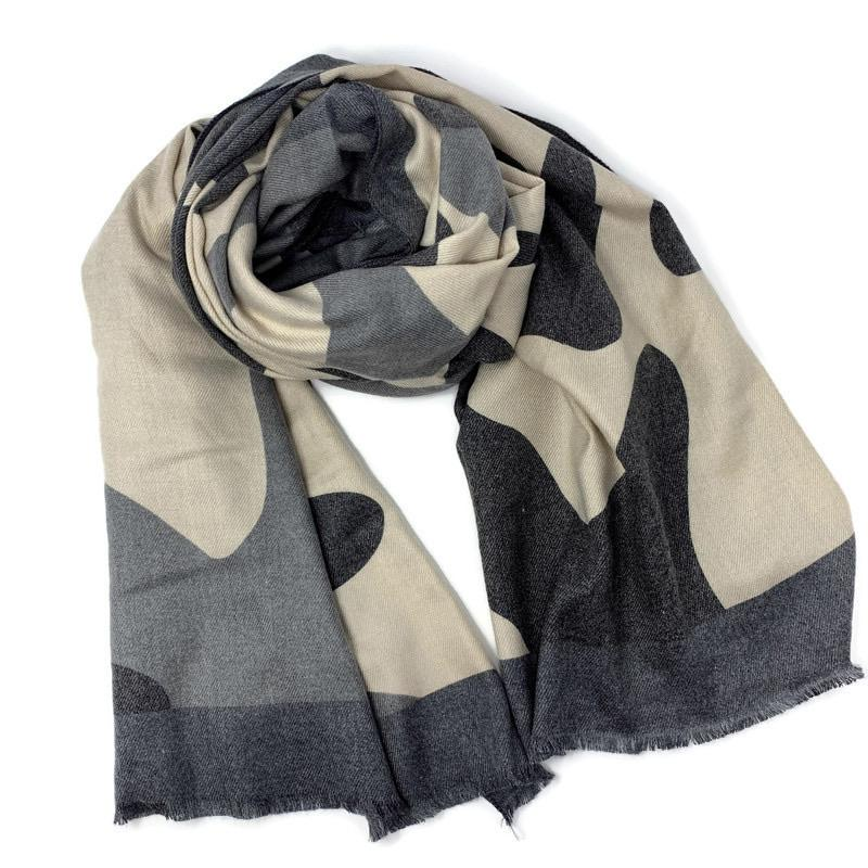 Long Wool Camo Scarf - StyleAlum