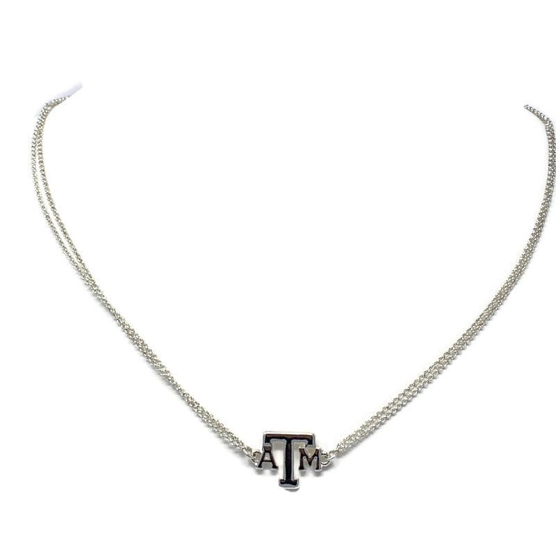 Texas A&M Silver Charm Necklace - StyleAlum