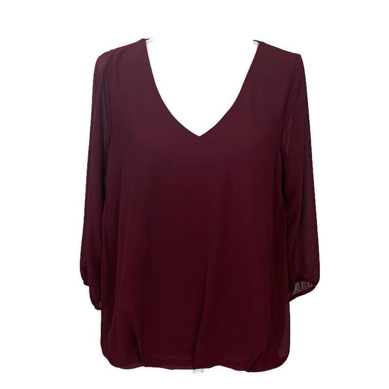V Neck Casual Top - StyleAlum