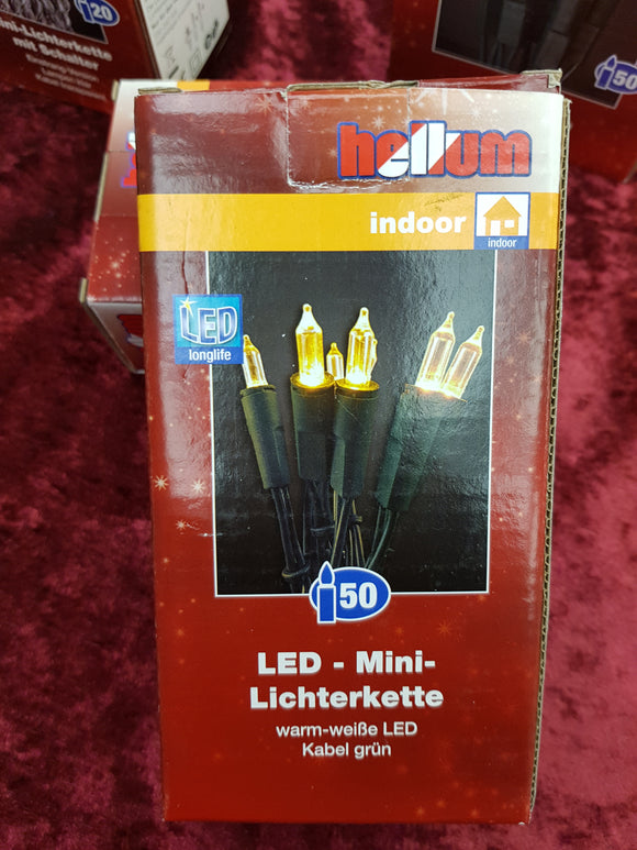 Hellum Lichterkette 50 LED warmweiß 560527