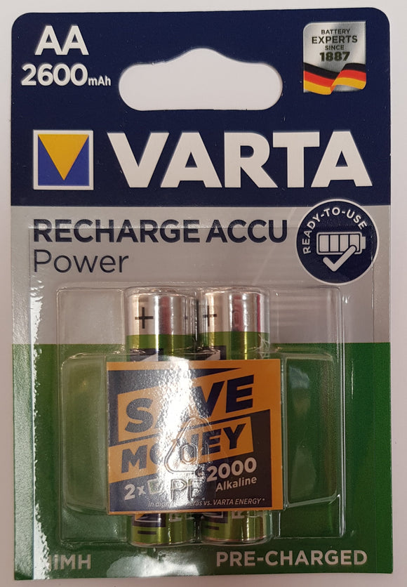 VARTA Mignon 5716  Rechargeable ACCU 2600 mAh 1,2V AA READY TO USE