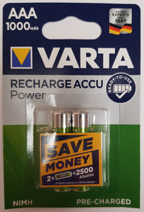 VARTA Micro 5703 Photo  Rechargeable ACCU 1000 mAh  1,2V AAA READY TO USE