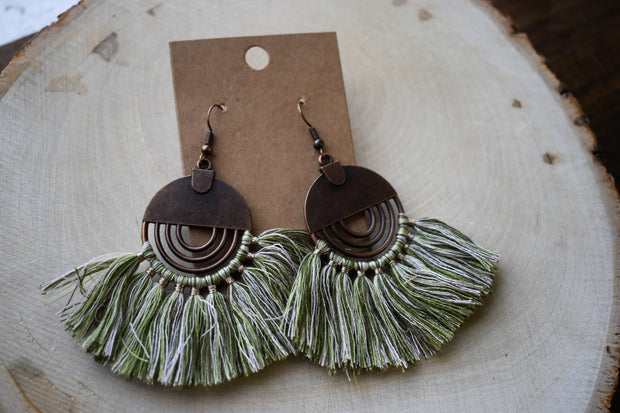 Tillies Fan Tassel Earrings