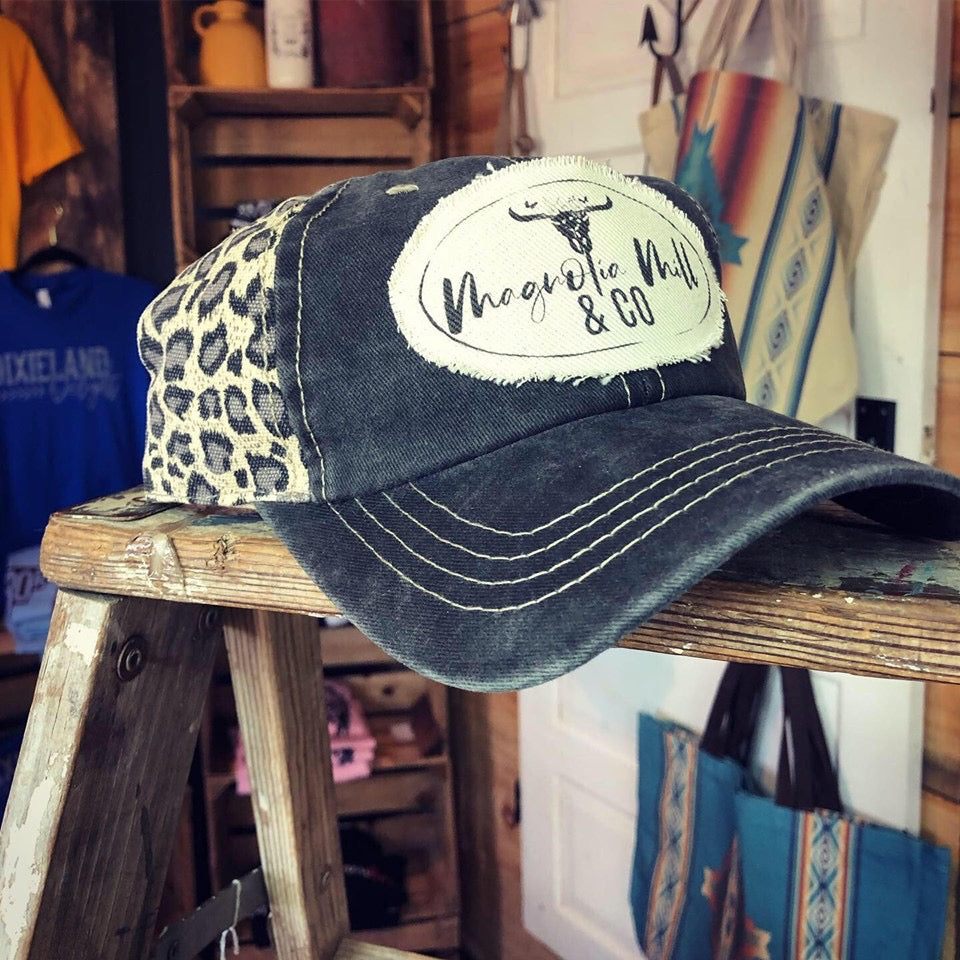 Magnolia Mill Logo Cheetah Back Hat-MagnoliaMill