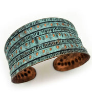 Rivet Striped Patina Bracelet