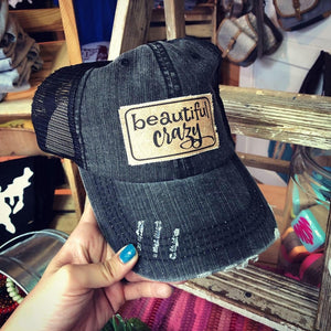 Luke Combs Beautiful Crazy Trucker Hat- Black-MagnoliaMill