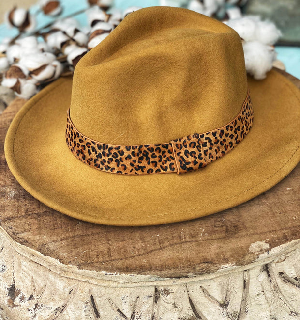 Fancy Fedora In Mustard