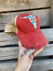 Distressed Steer head Trucker Hat