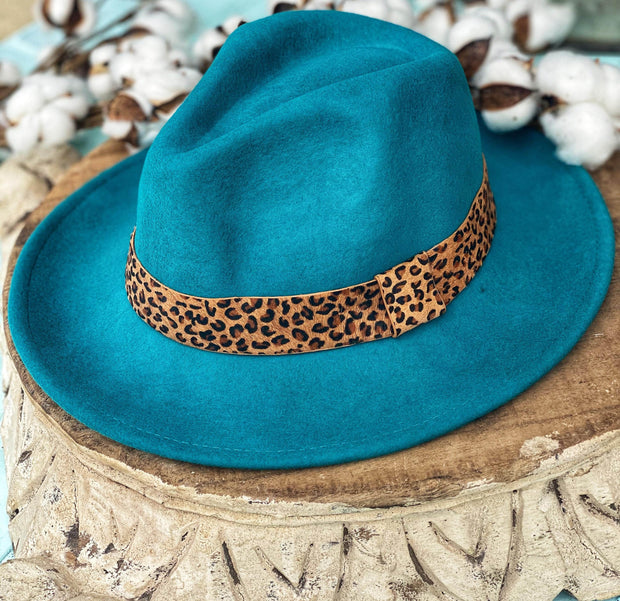 Fancy Fedora In Turquoise