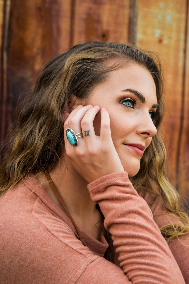 Eliza's Oval Turquoise Statement Ring