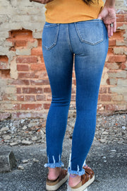 Mia's High Rise Shark Bite Super Skinny Denim