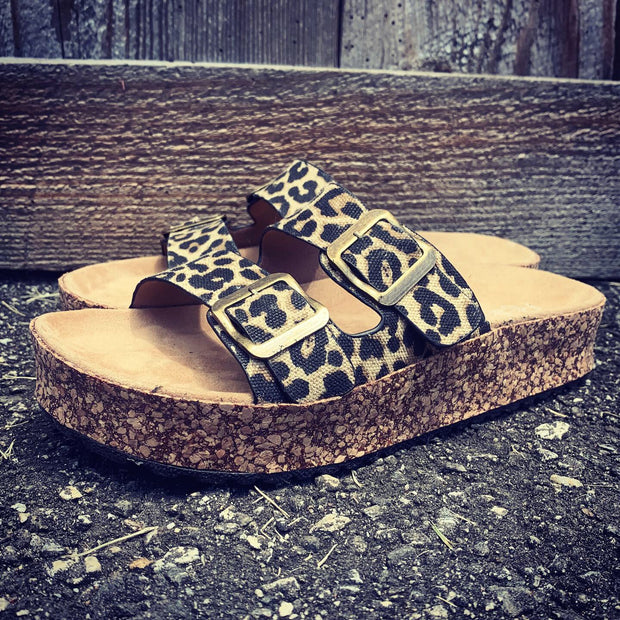 Molly's Platform Cheetah Sandals-MagnoliaMill