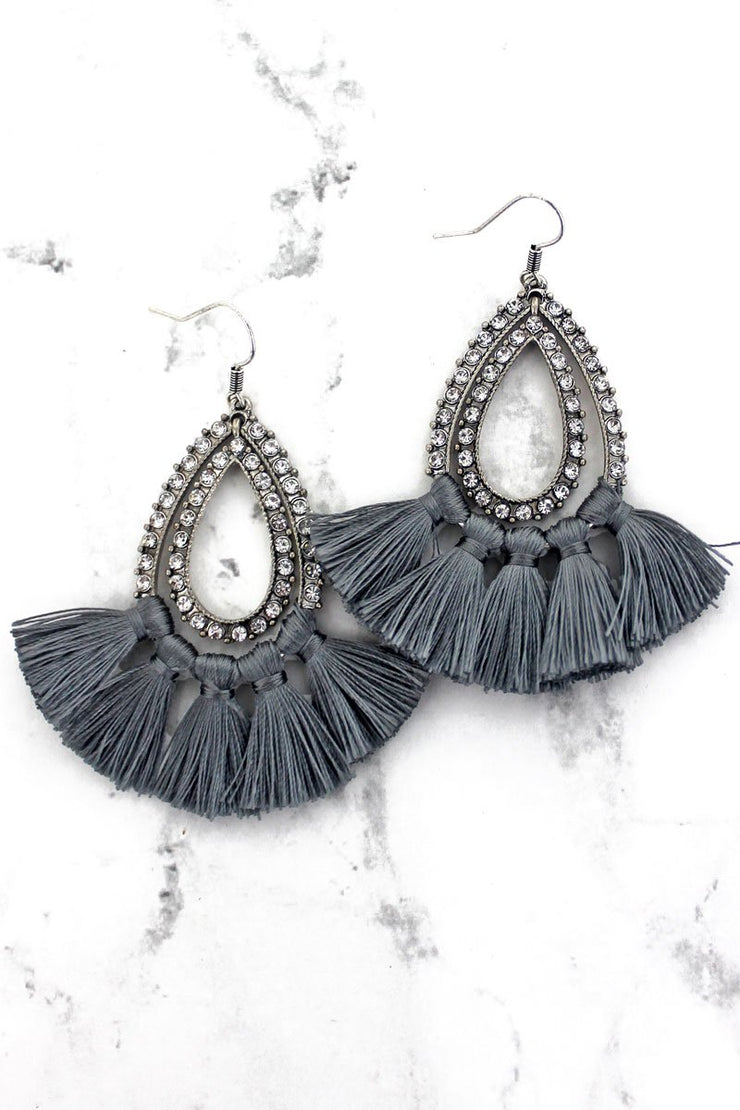 Cement Tassel Earrings