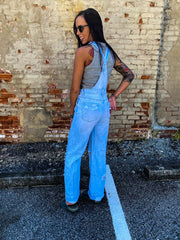 Lin's High Rise Wide Leg Overalls