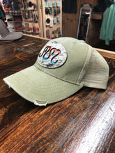 "Load image into Gallery viewer, Serape Cowhide MM ""Magnolia Mill"" Distressed Trucker Hat"