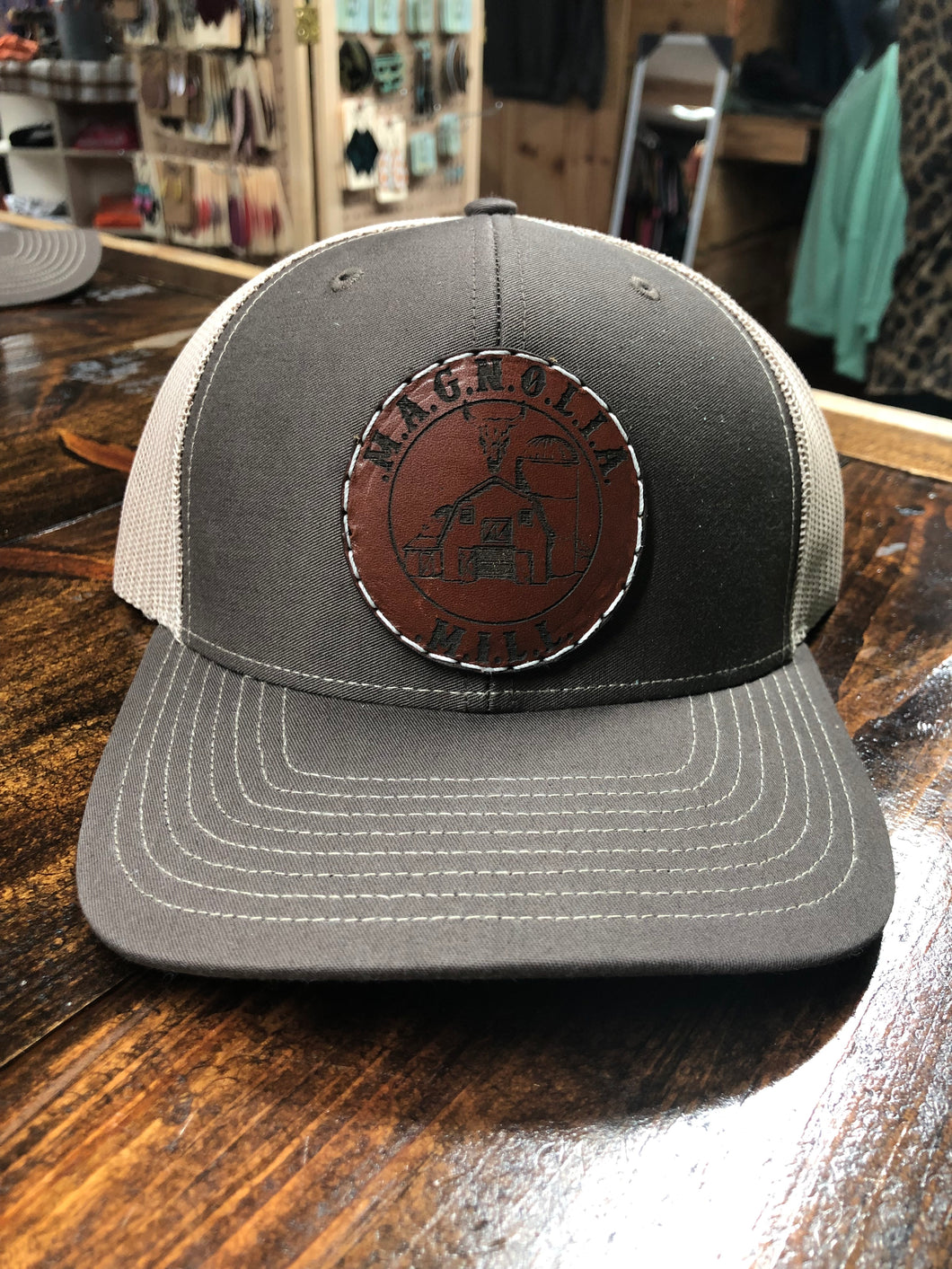 Mens Magnolia Leather Patch Richardson Hats