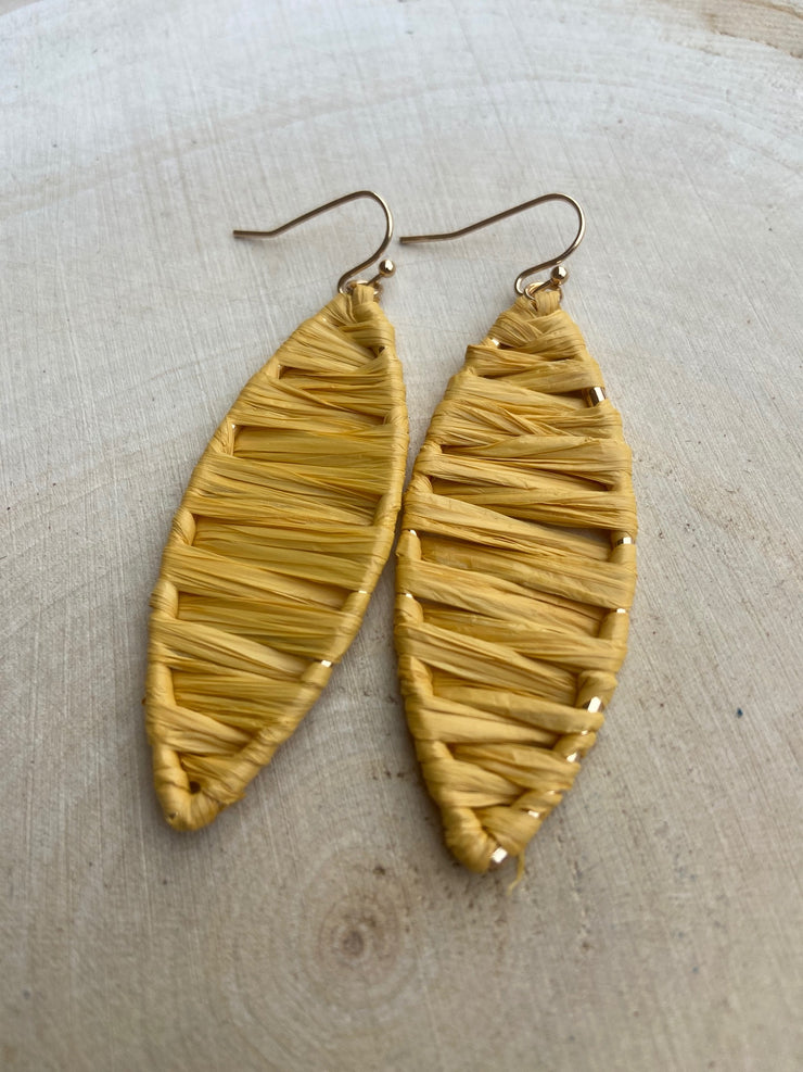 Ruth's Wicker Earrings