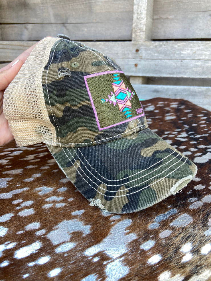 CC Exclusive Aztec Camo Trucker