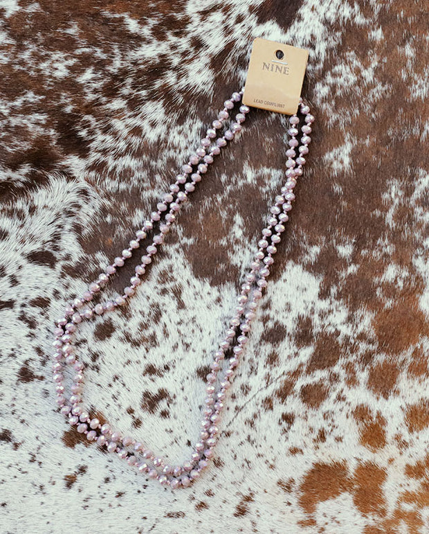 The Lovely Lavender Beaded Necklace