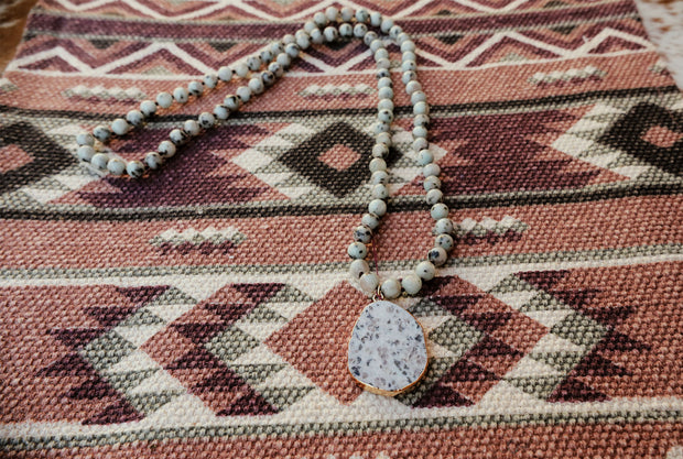 The Dotty Beaded Pendant Necklace
