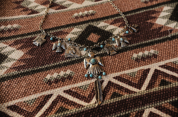The Tilley Teal Eagle Necklace