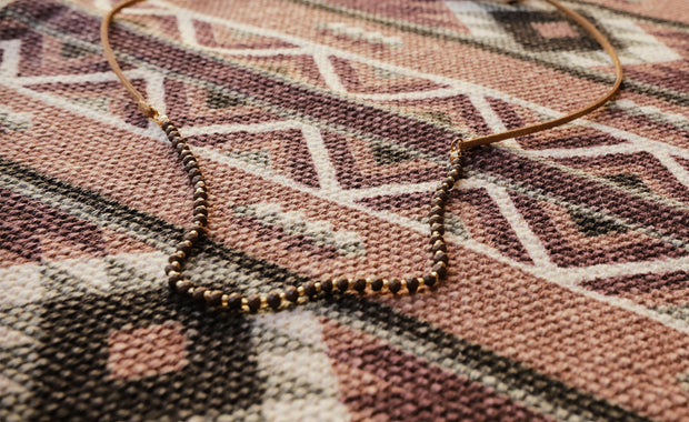 The Brie Brown Beaded Necklace