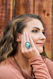 Nettie's Turquoise Crackled Statement Ring