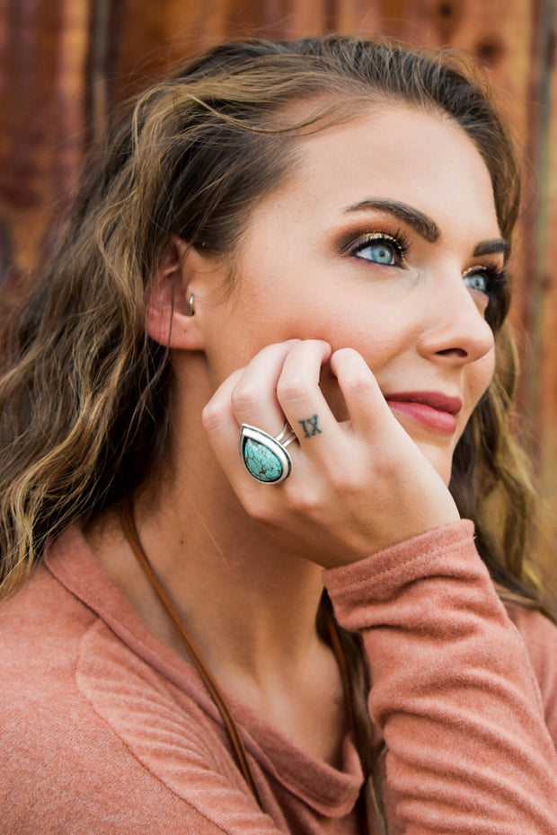 Lenora's Pear Shaped Statement Ring