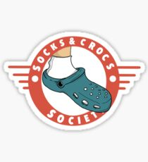 Socks & Crocs Society Sticker