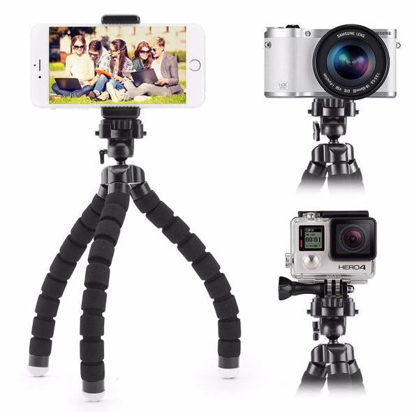 Phone Tripod, Portable and Adjustable Camera Stand Holder