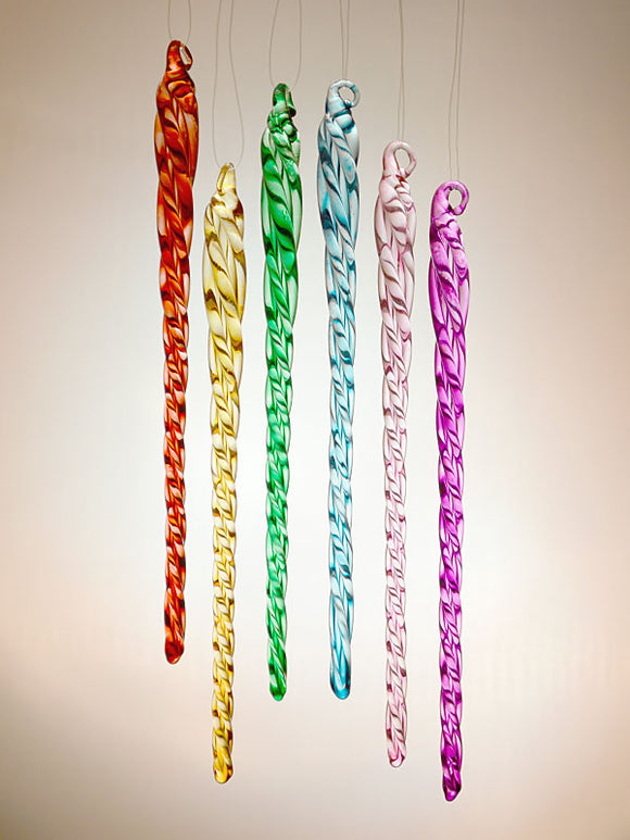 Color glass icicle collection
