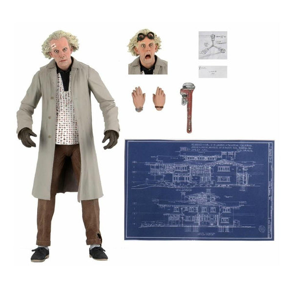 "NECA Ultimate 7"" Scale : Back to the Future - Doc Brown"