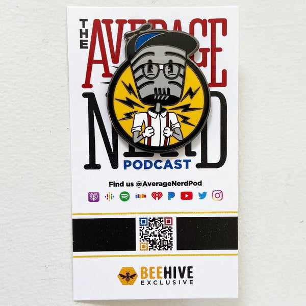 Mikey Mic Logo Enamel Pin - The Average Nerd Podcast