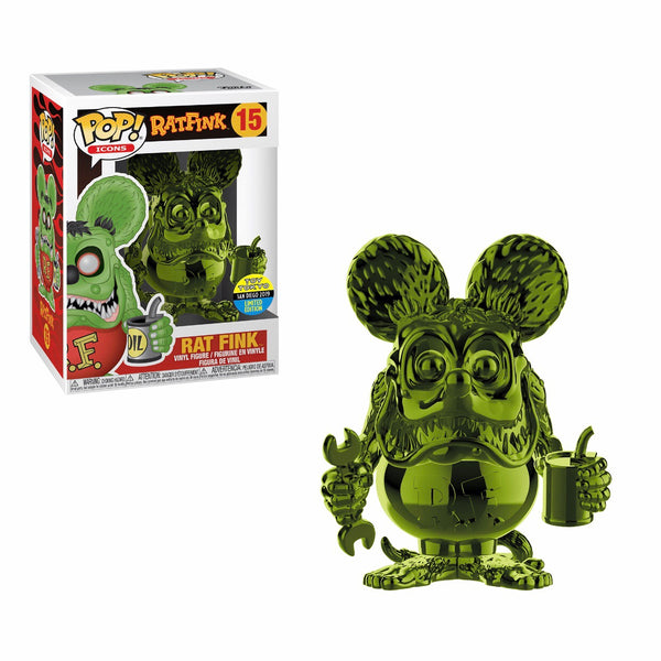 Icons #015 Rat Fink - Green Chrome
