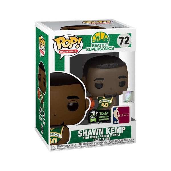 Basketball #072 Shawn Kemp - Seattle SuperSonics (Green Jersey)