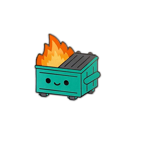 100% Soft - Dumpster Fire Enamel Pin