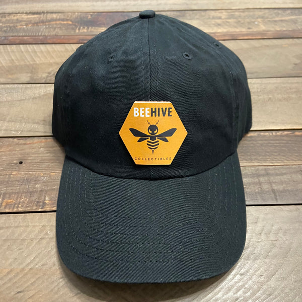 Beehive Collectibles Bio-Washed Classic Dad Cap - Black (OG Logo)