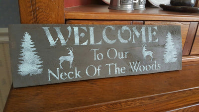 Welcome Deer Sign for Cabin