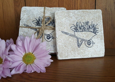 Garden Stone Coasters Garden Decor A Rustic Feeling