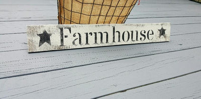 Rustic Farmhouse Sign with Stars
