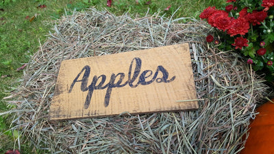 Handcrafted Apples Farmhouse Sign Fall Decor A Rustic Feeling