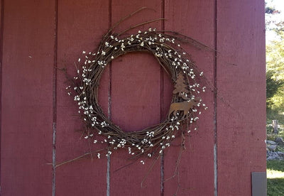 Moose Cabin Wreath
