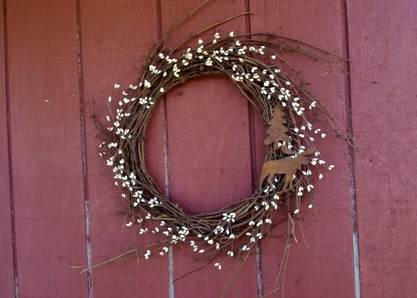 Cabin Decor, Cabin Wreath, Moose Decor