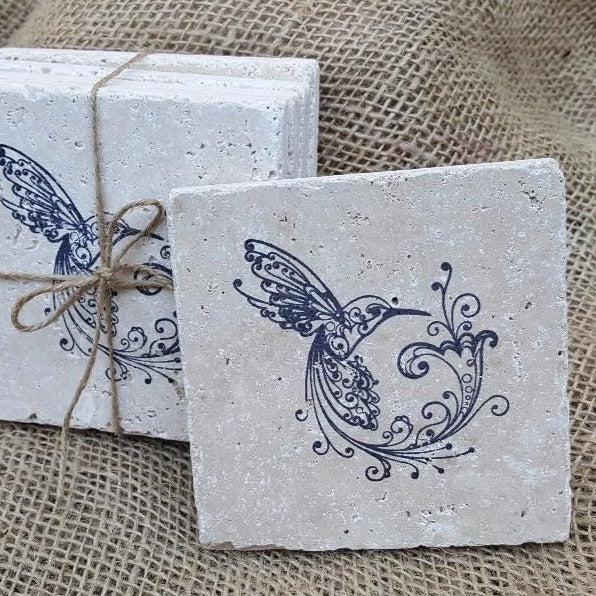 Hummingbird Coasters Garden Decor A Rustic Feeling